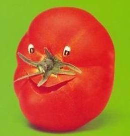 搞笑的西红柿