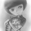 悠闲的抱猫